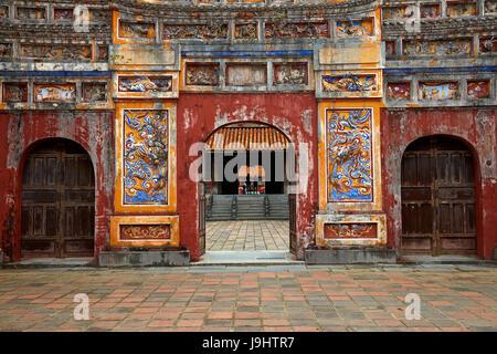 Mieu Mon gate, historic Hue Citadel (Imperial City), Hue, North Central Coast, Vietnam - Stock Photo