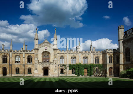 The New Court of Corpus Christi College, part of the University of Cambridge UK. The college was founded in 1352 - Stock Photo