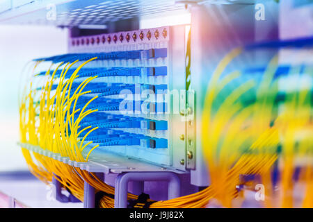 Optical Fiber communication Distribution point - Stock Photo