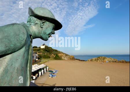 France, Loire Atlantique, Saint Nazaire, St Marc Beach where was filming Les Vacances de Monsieur Hulot (Mr. Hulot's - Stock Photo