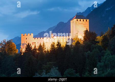 Castle Bruck, Lienz, Lienzer Dolomiten, Osttirol, Tyrol, Austria - Stock Photo