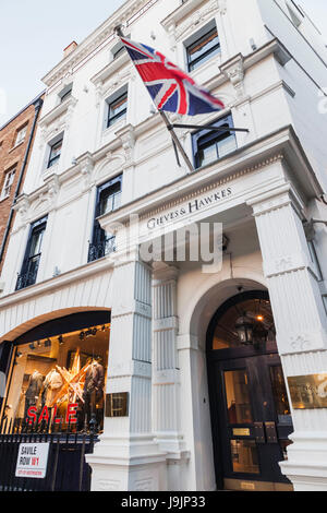 England, London, Savile Row, Gieves & Hawkes Store - Stock Photo