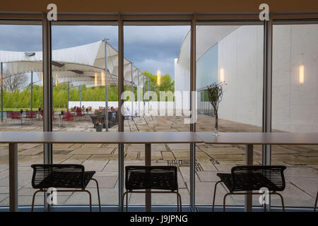 Denmark, Jutland, Herning, HEART Museum, art museum in manufacturing complex, museum cafe - Stock Photo