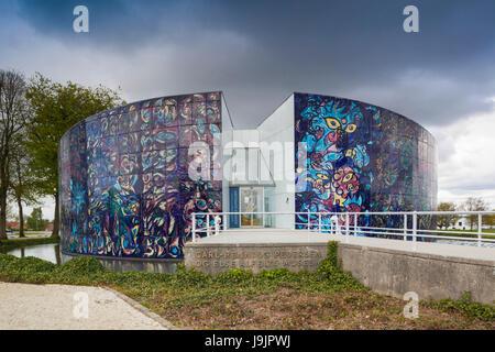 Denmark, Jutland, Herning, HEART Museum, art museum in manufacturing complex, exterior of the Carl Henning Pedersen - Stock Photo