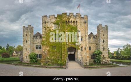 Hever Castle, England -  April 2017 : Hever Castle  located in the village of Hever, Kent, built in the 13th century, - Stock Photo