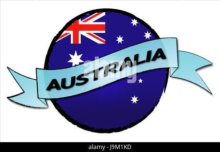 men, man, at, work, men, man, australia, flag, under, trip, button, kangaroo, - Stock Photo