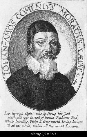 JOHN AMOS COMENIUS (1592-1670) Czech educational philosopher - Stock Photo