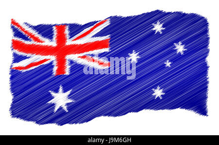 travel, holiday, vacation, holidays, vacations, australia, flag, under, trip, - Stock Photo