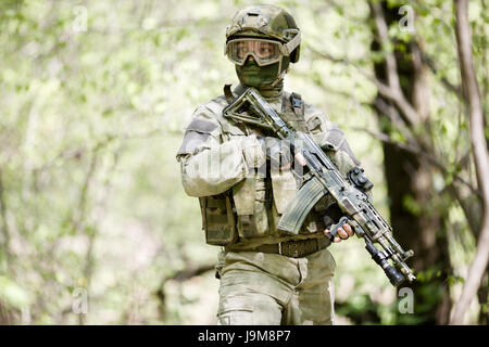Photo of officer in helmet - Stock Photo