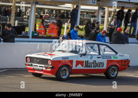 1981 Ford Escort RS2000 with driver Theo Paphitis during the Gerry Marshall Trophy race, Goodwood GRRC 74th Members - Stock Photo