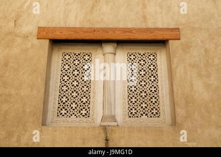 Coptic windows on a church in Cairo, Egypt. - Stock Photo