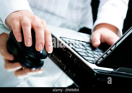 woman, laptop, notebook, computers, computer, type, hand, keyboard, PC, model, - Stock Photo