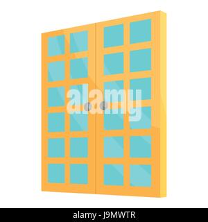 Double room door icon, cartoon style - Stock Photo