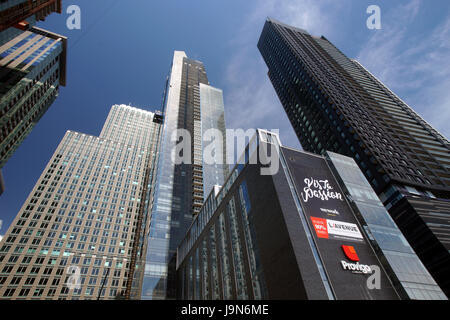 New condo and offices towers in downtown Montreal,Quebec,Canada. - Stock Photo