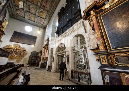 Benediktinerkloster.Fürstliches Schloss Thurn und Taxis in Regensburg,kreisfreie Stadt in Ostbayern. - Stock Photo