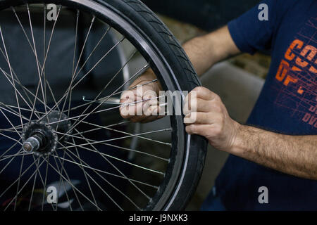 London rickshaw cyclists - Stock Photo
