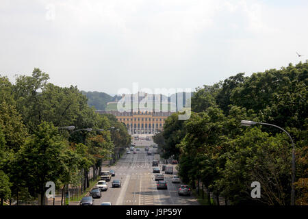 schonbrunn palace in vienna - Stock Photo