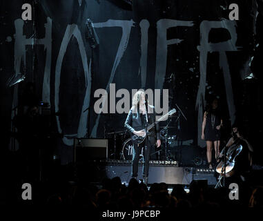 LAS VEGAS, NV - MAY 17: Hozier performs on the 2015 Billboard Music Awards at the MGM Grand Garden Arena on May - Stock Photo