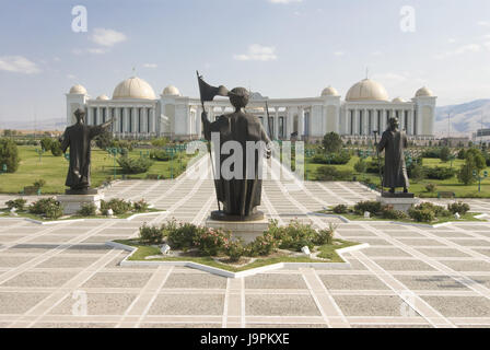Independence monument in Turkmenistan,Ashgabad, - Stock Photo