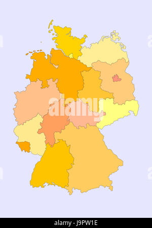 Bavaria Card State Map Of Germany Isolated Optional Graphic - Germany map states