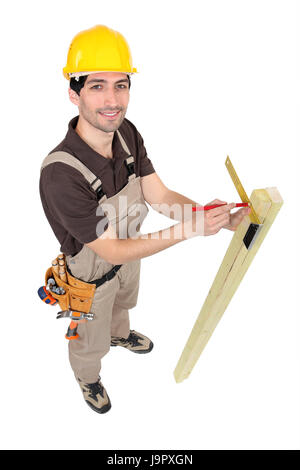 build, beam, blank, european, caucasian, beige, angle, belt, tool, job, - Stock Photo