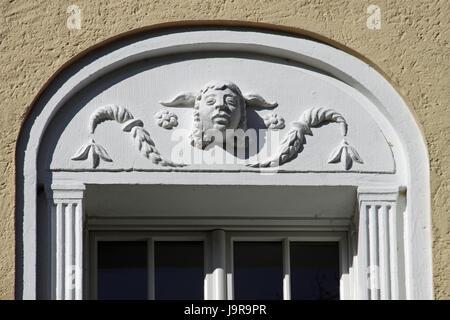 detail, window, porthole, dormer window, pane, head, detail, window, porthole, - Stock Photo