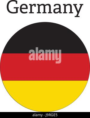 Germany flag icon round button sign symbol - Stock Photo