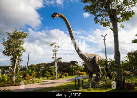 20 September 2016 At the Dinosaur park Dannok Sadao District, Songkhla in Thailand opening hours 10.00 am. - 10.00 - Stock Photo