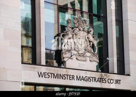 Westminster Magistrates Court, Marylebone Road, City of Westminster, London, England, U.K. - Stock Photo