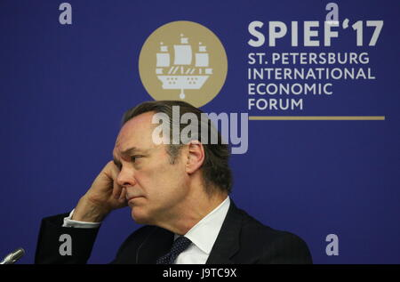St Petersburg, Russia. 2nd June, 2017. Chief Executive Officer Europe, Middle East and Africa (EMEA) at Citigroup - Stock Photo