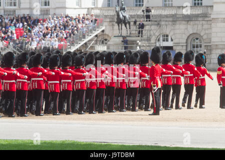 London, UK. 3rd June, 2017. Major General's review at Trroping the Colour Rehearsals in Horse Guards parade Credit: - Stock Photo