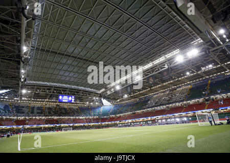 Cardiff, Wales, UK. 3rd June, 2017. A view of the Millenium Stadium where Real Madrid and Juvetus will play the - Stock Photo