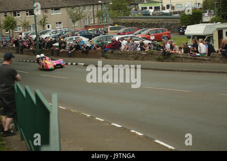 Isle of Man TT Races, Sidecar, Supersport/Lightweight/Newcomers (all classes) Qualifying Session and Practice Race. - Stock Photo