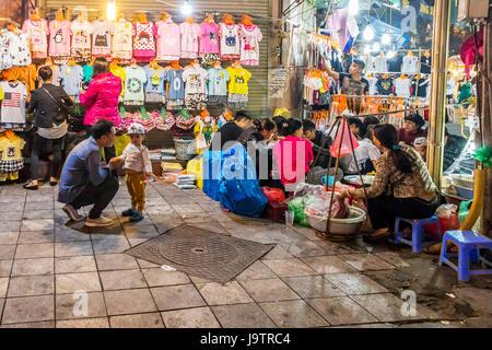 City of Hanoi in Vietnam at night - Stock Photo