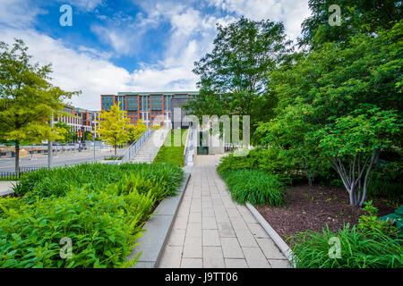 Gardens at Canal Park in the Navy Yard neighborhood of Washington, DC. - Stock Photo