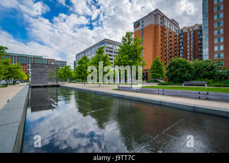 Modern buildings and Canal Park in the Navy Yard neighborhood of Washington, DC. - Stock Photo
