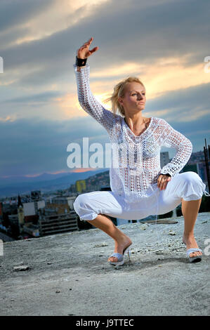 woman, disco, humans, human beings, people, folk, persons, human, human being, - Stock Photo