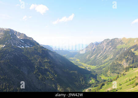 mountains, hike, go hiking, ramble, austrians, sight, view, outlook, - Stock Photo