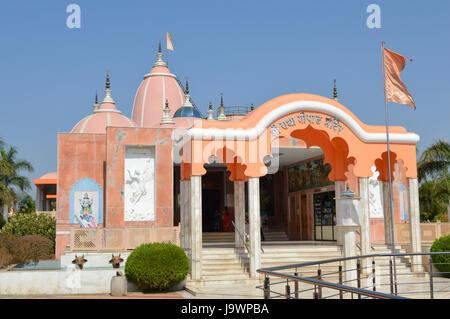 Shree Radha Gopal mandir (ISKCON) Aravade, Tasgaon near Sangli, Maharashtra. - Stock Photo