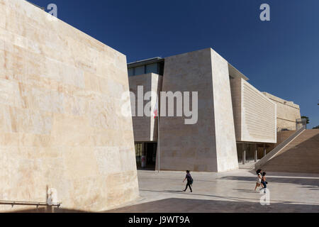 Valletta City Gate, modern city gate and parliament building, architect Renzo Piano, Valletta, Malta - Stock Photo