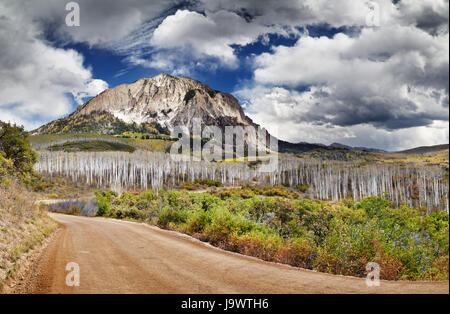 Kebler Pass and Marcellina Mountain view, Crested Butte, Colorado, USA - Stock Photo