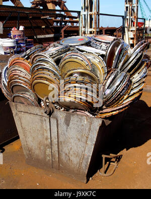industrial, traffic, transportation, steel, scrap, freight, cover, industrial, - Stock Photo