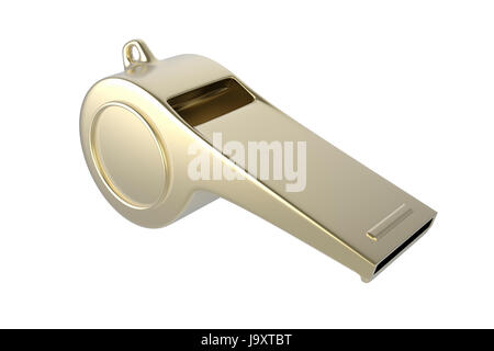 whistle, referee, coach, sport, sports, soccer, football, police, object, - Stock Photo