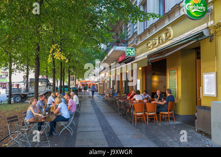 Berlin  cafe. Bar on Schlesische Strasse in the Kreuzberg district, Berlin, Germany - Stock Photo