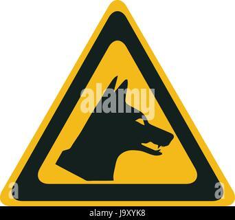 Dingo danger, vector warning sign - Stock Photo