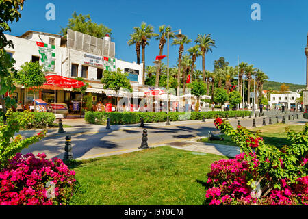 Bodrum Town Centre at the west bay and marina area, Mugla Province, Turkey. - Stock Photo