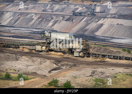 garzweiler open cast mining lignite, germany - Stock Photo