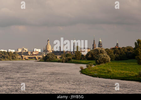 dresden from north - Stock Photo