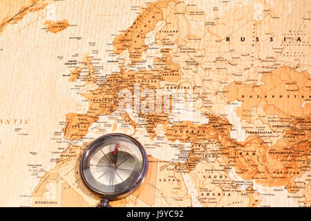 World map with compass showing europe and the middle east stock world map with compass showing europe and the middle east stock photo gumiabroncs Images