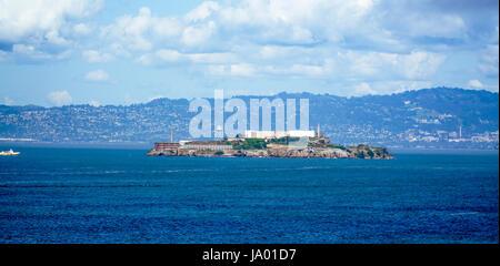 Famous Alcatraz Prison in San Francisco - SAN FRANCISCO - CALIFORNIA - APRIL 18, 2017 - Stock Photo